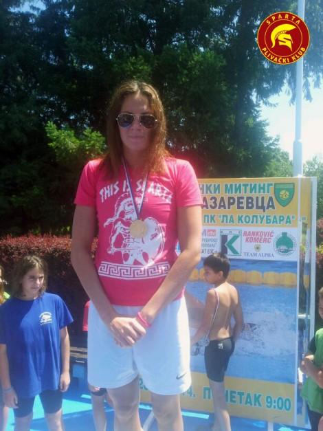 Jovana Bogdanović - KUP Lazarevac 2014 - 100m prsno - zlatna medalja