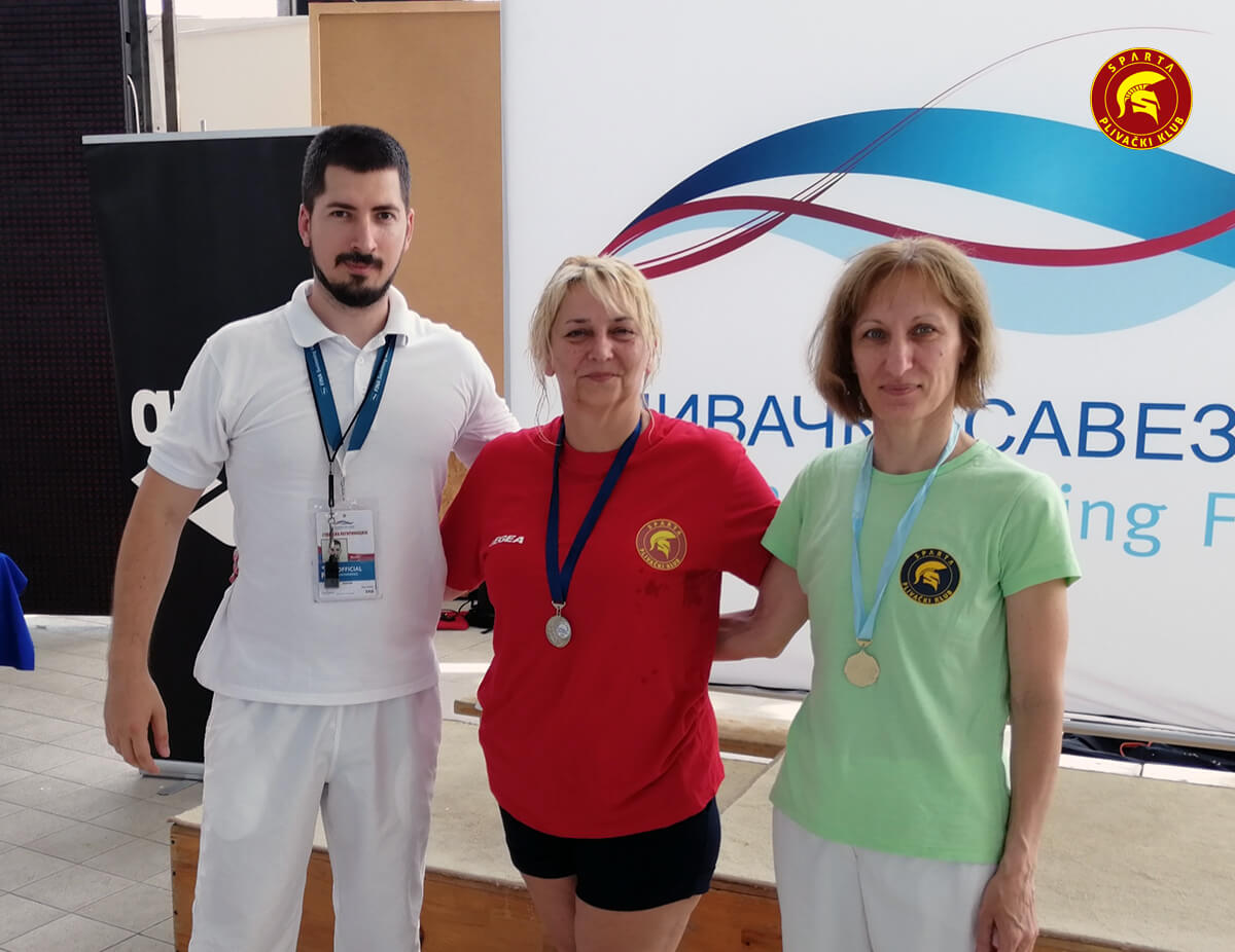 Miloš, Ilona i Magda - Masters 50 m - 2019