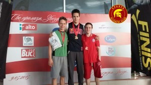 """Miloš Mihaljlović - prvo mesto i zlatna medalja u disciplini 100 m kraul na međunarodnom plivačkom mitingu """"SVE PROLAZI ZVEZDA TRAJE"""""""