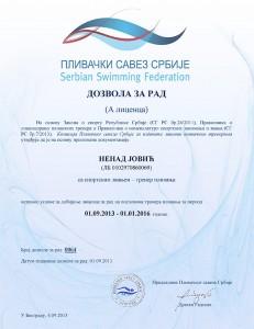 Nenad Jović - dozvola za rad(licenca)