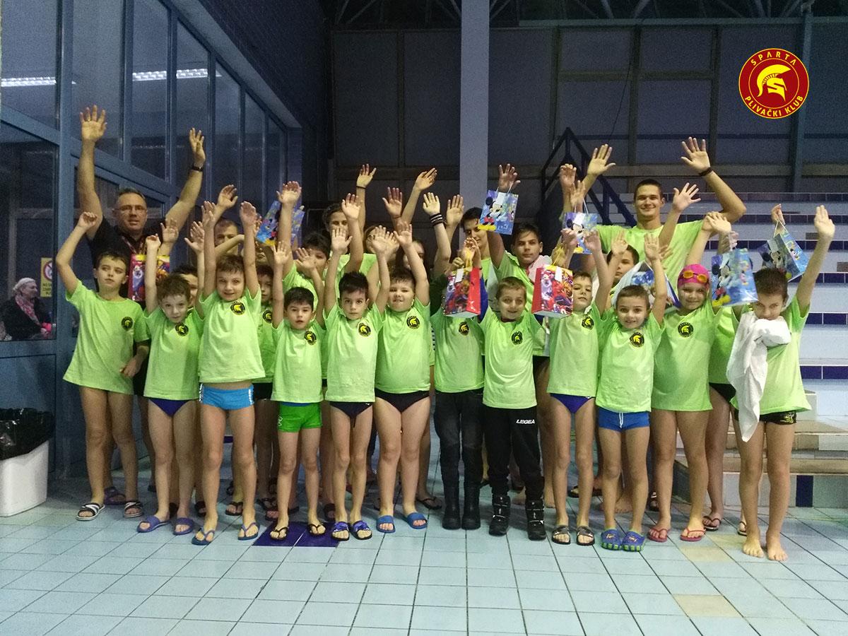 Članovi škole plivanja PK Sparta