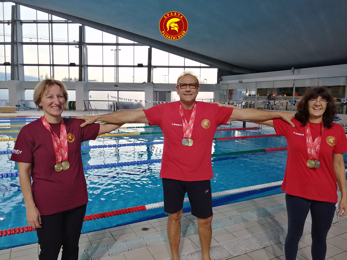 Masters plivači PK Sparta na zimskom Državanom prvenstvu 2020